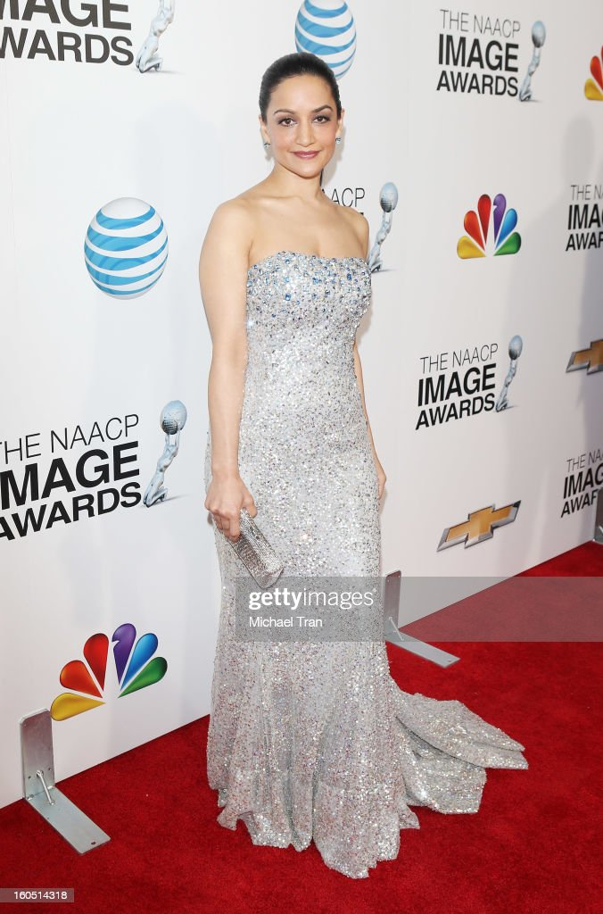 Archie Panjabi arrives at the 44th NAACP Image Awards held at The Shrine Auditorium on February 1, 2013 in Los Angeles, California.