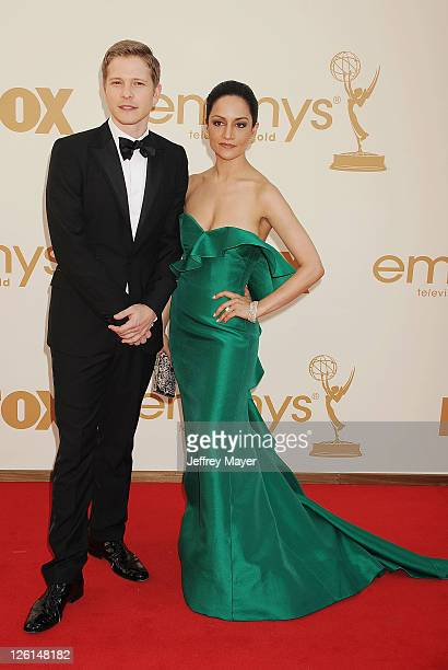 Archie Panjabi arrives at the 63rd Primetime Emmy Awards at the Nokia Theatre LA Live on September 18 2011 in Los Angeles California