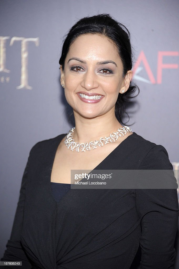 Archie Panjabi attends 'The Hobbit: An Unexpected Journey' New York Premiere Benefiting AFI - Red Carpet And Introduction at Ziegfeld Theater on December 6, 2012 in New York City.