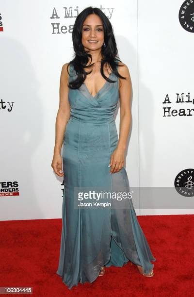 Archie Panjabi during 'A Mighty Heart' New York City Premiere Arrivals at Ziegfeld Theater in New York City New York United States