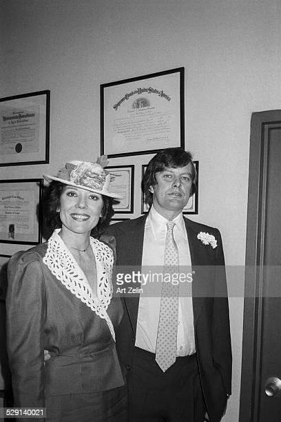 Archie Stirling with Diana Rigg at their wedding at NY Citty Hall 1982 New York