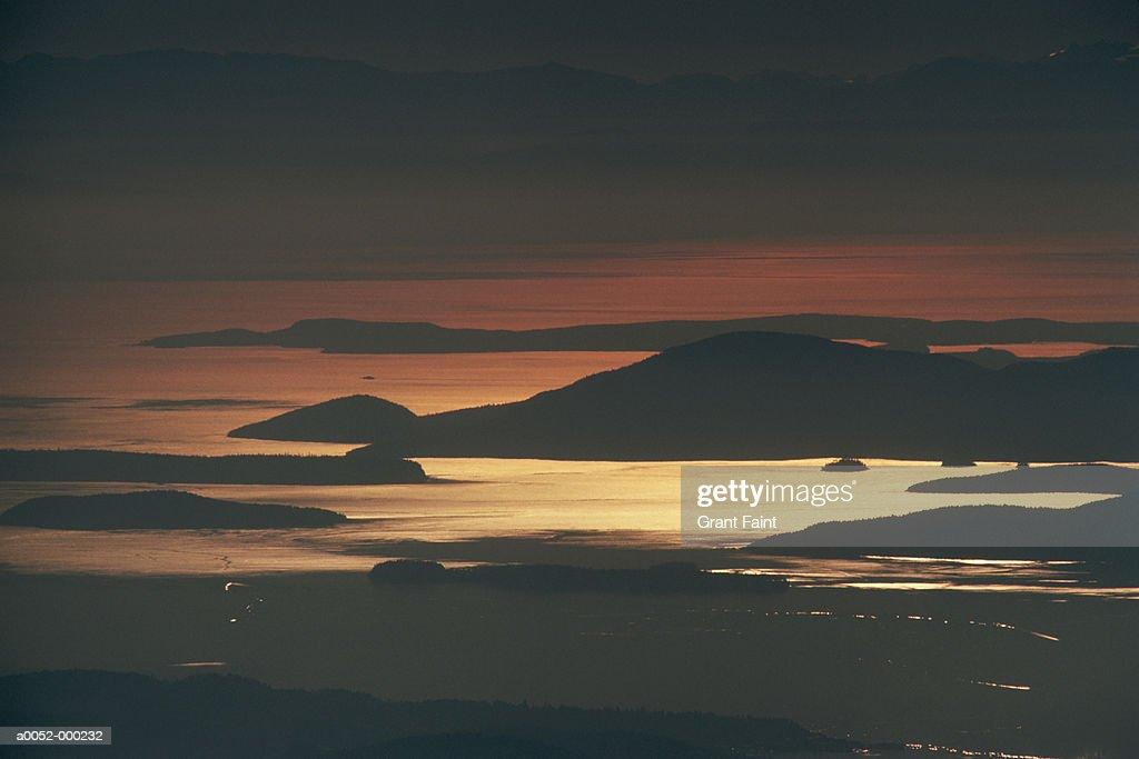 Archipelago at Sunset : Stock Photo