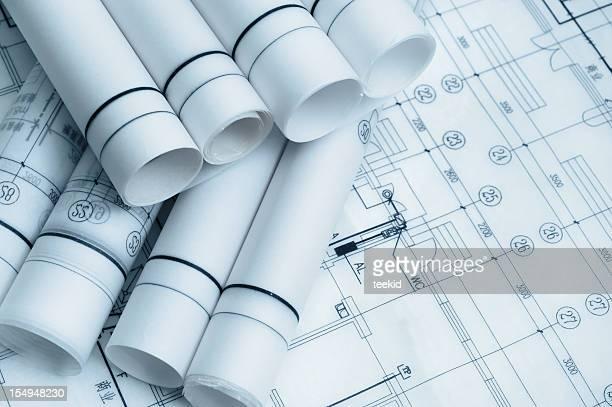 Architechure Bluepint Dokumente und Formulare für Bauwesen
