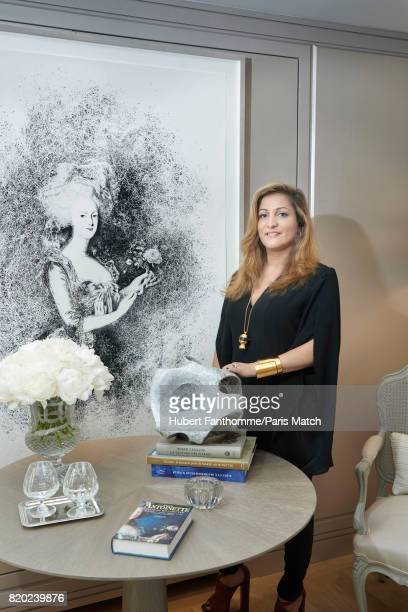 Architect and artistic director Aline Asmar D'Amman inside the Crillon Hotel photographed for Paris Match on June 22 2017 in Paris France
