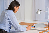 Architect at drafting table