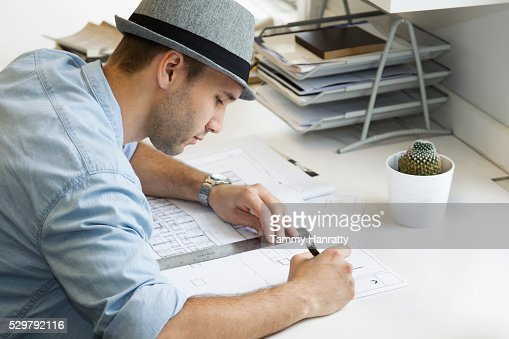 Architect at work : Stock Photo