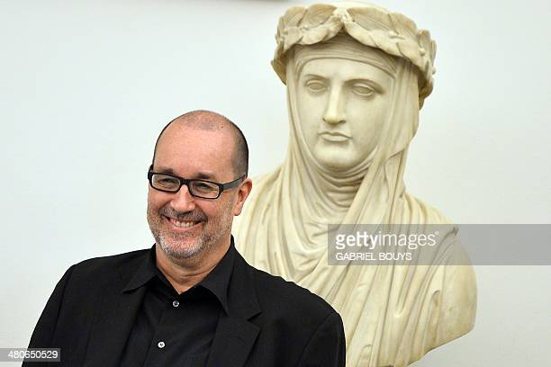 US architect Dan Meis attends a press conference to present the Rome's new stadium project on March 26 2014 in Rome AS Roma officially announced...