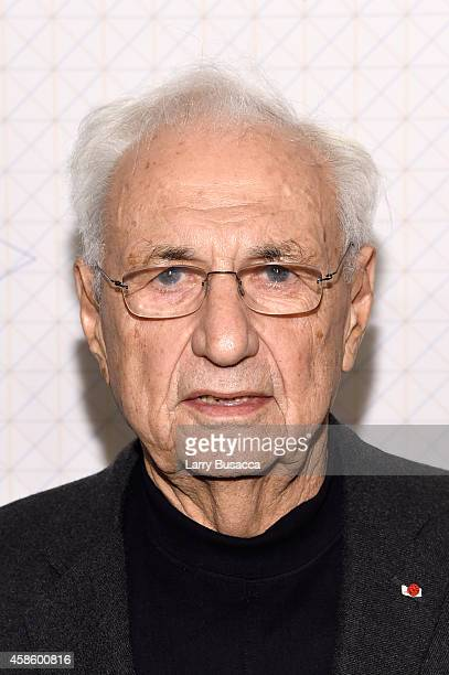 Architect Frank Gehry attends Louis Vuitton Monogram celebration at Museum of Modern Art on November 7 2014 in New York City