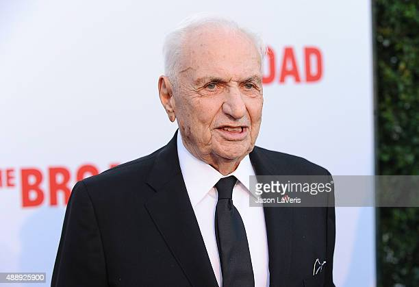 Architect Frank Gehry attends the Broad Museum black tie inaugural dinner at The Broad on September 17 2015 in Los Angeles California