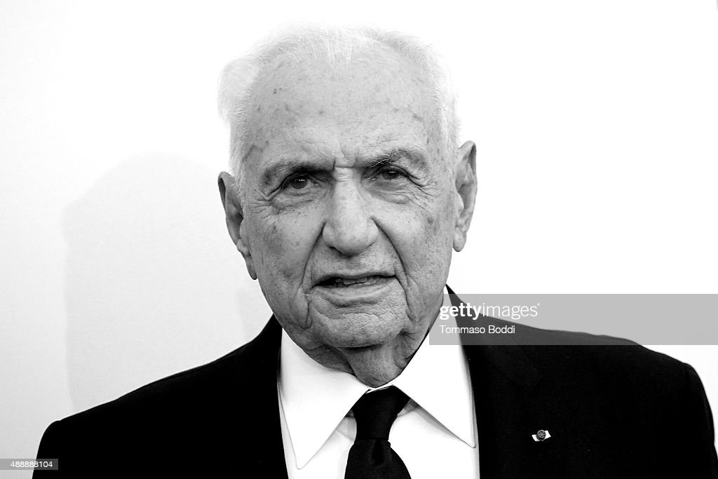 Architect Frank Gehry attends the Broad Museumblack tie inaugural dinner held at The Broad on September 17, 2015 in Los Angeles, California.