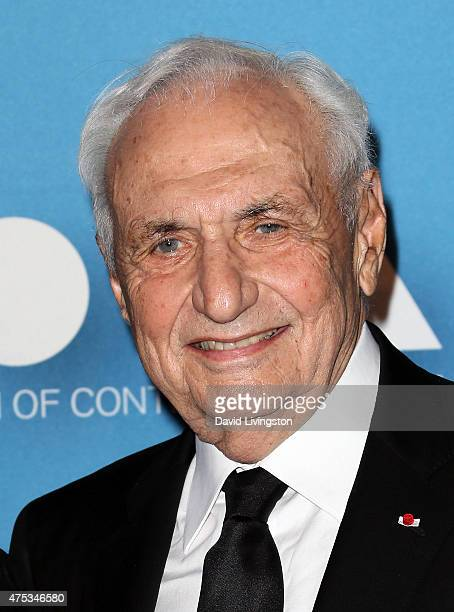 Architect Frank Gehry attends the MOCA Gala 2015 presented by Louis Vuitton at The Geffen Contemporary at MOCA on May 30 2015 in Los Angeles...