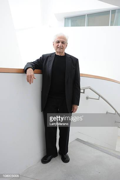 Architect Frank Gehry attends the preview of the New World Center at New World Center on January 25 2011 in Miami Beach Florida