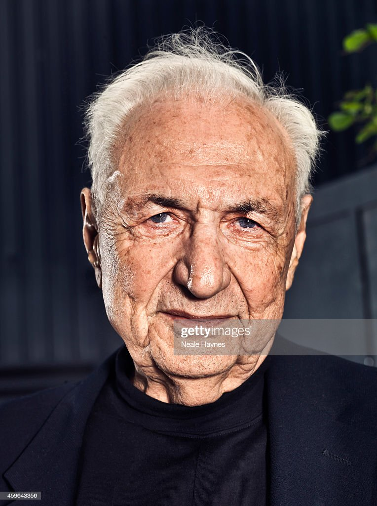 Architect Frank Gehry is photographed for ES magazine at Battersea Power station where a housing scheme he has designed will be built alongside one of London's architectural icons. April 9, 2014 in London, England.