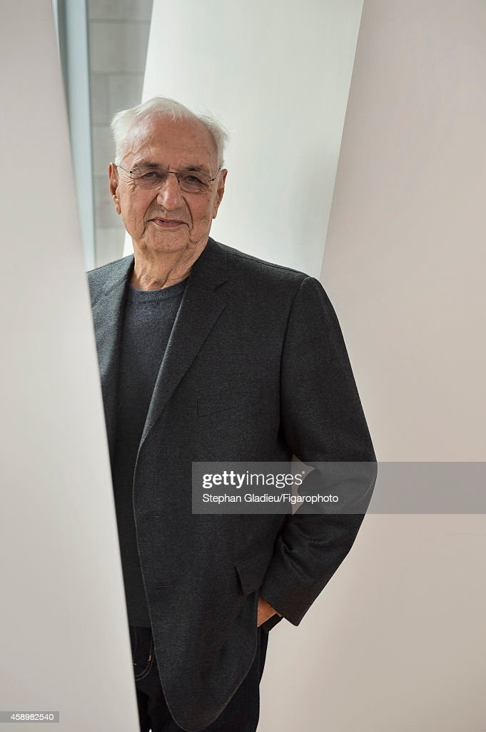 Architect <a gi-track='captionPersonalityLinkClicked' href=/galleries/search?phrase=Frank+Gehry&family=editorial&specificpeople=131842 ng-click='$event.stopPropagation()'>Frank Gehry</a> is photographed for Le Figaro Magazine on October 17, 2014 in Paris, France. At the presentation of the Louis Vuitton Foundation.
