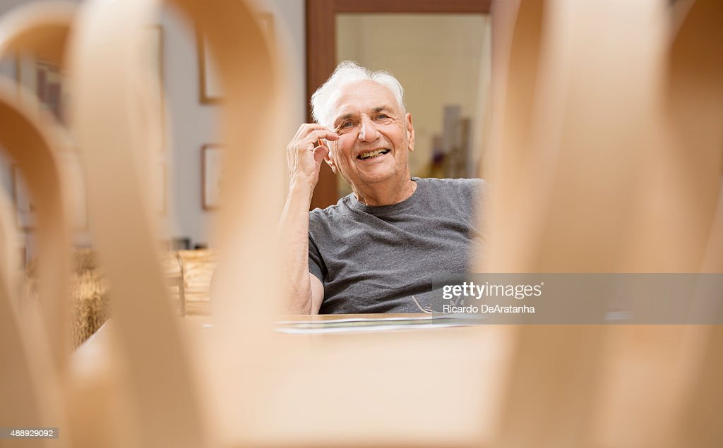 Architect Frank Gehry is photographed for Los Angeles Times on September 10, 2015 in Los Angeles, California. PUBLISHED IMAGE.