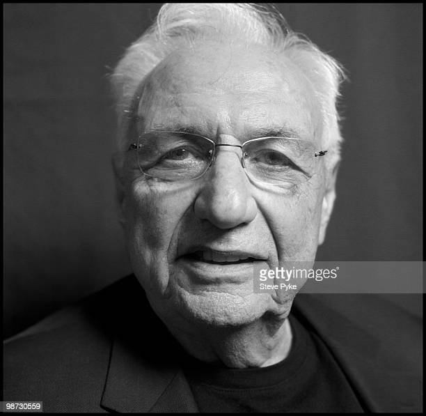 Architect Frank Gehry poses for a portrait session on May 11 New York NY