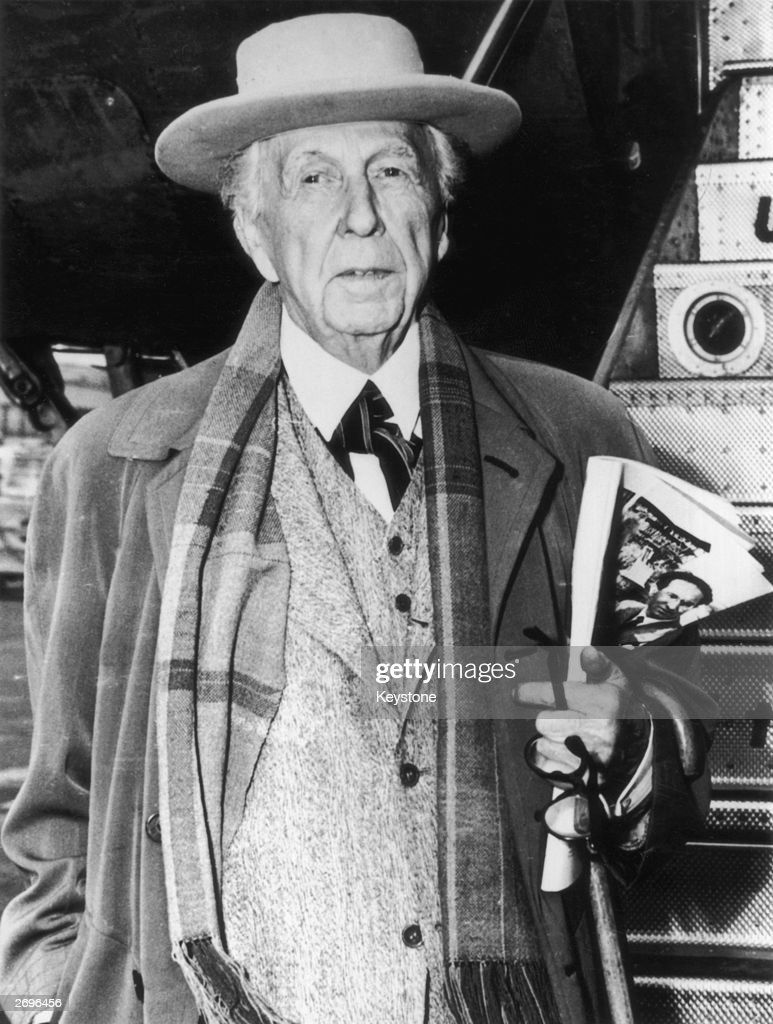 Architect <a gi-track='captionPersonalityLinkClicked' href=/galleries/search?phrase=Frank+Lloyd+Wright&family=editorial&specificpeople=90880 ng-click='$event.stopPropagation()'>Frank Lloyd Wright</a> (1867 - 1959).