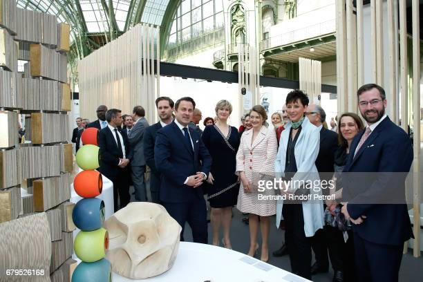 Architect Gauthier Destenay Prime Minister of Luxembourg Xavier Bettel Secretary of State for the Economy of Luxembourg Francine Closener...