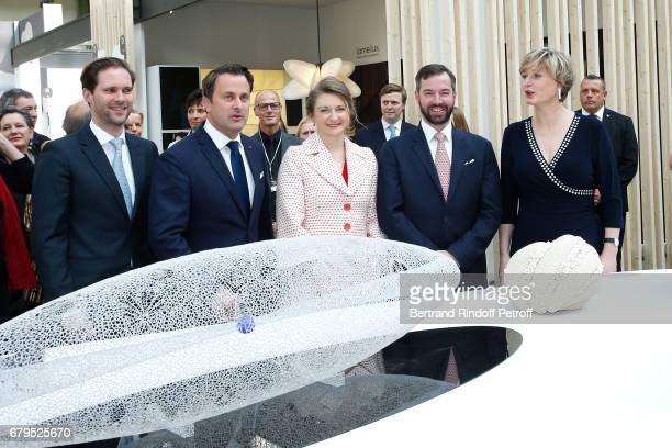 Architect Gauthier Destenay Prime Minister of Luxembourg Xavier Bettel GrandeDuchesse Heritiere Stephanie De Luxembourg GrandDuc Heritier Guillaume...