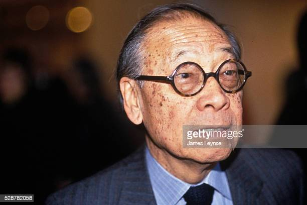 Architect I M Pei at the inauguration of his addition to the Louvre museum