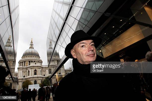 Architect Jean Nouvel admires the completed shopping mall 'One New Change' which he designed and opened to the public today on October 28 2010 in...