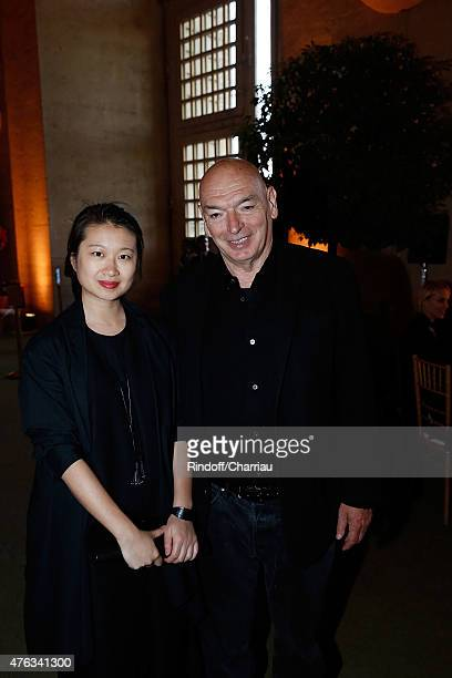 Architect Jean Nouvel and Lida Guan attend the Grand Opening Anish Kapoor's Exhibition at Chateau de Versailles on June 7 2015 in Versailles France