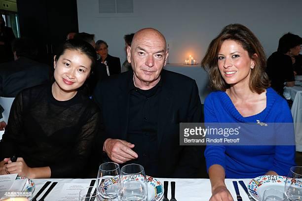 Architect Jean Nouvel his companion Lida Guan and Elena Cortina attend the 'Fondation Cartier pour l'art contemporain' celebrates its 30th...