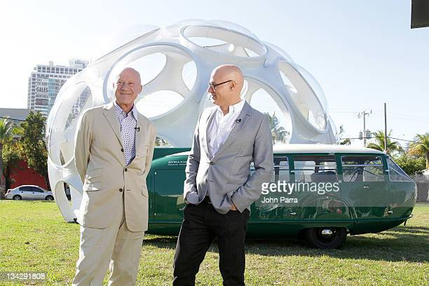 Architect Lord Norman Foster and Craig Robins at the Buckminster Fuller Dome on November 30 2011 in Miami Florida