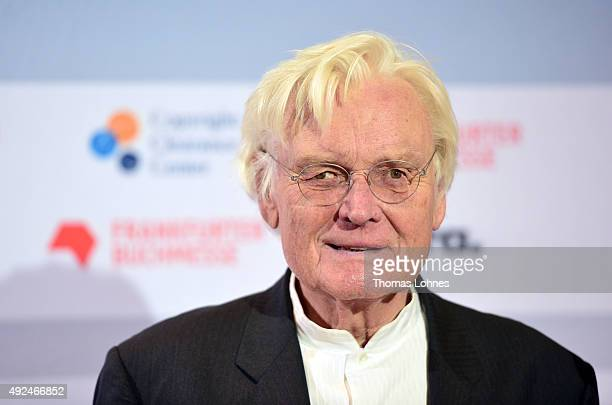 Architect Meinhard von Gerkan poses before the opening ceremony of the 2015 Frankfurt Book Fair on October 13 2015 in Frankfurt am Main Germany The...