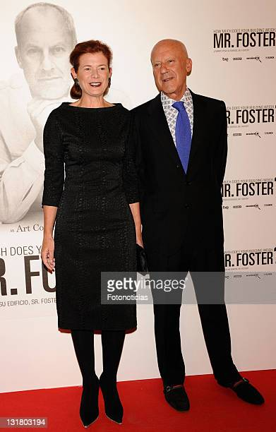 Architect Norman Foster and sex expert Elena Ochoa Foster attend 'How Much Does Your Building Weigh Mr Foster' premiere at the Verdi Cinema on...