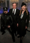 Architect Peter Marino CEO of Christian Dior Sidney Toledan and designer John Galliano attend the Dior celebration of the reopening of its 57th...