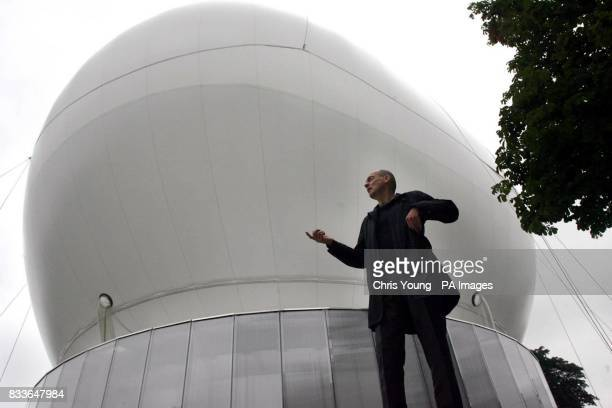 Architect Rem Koolhaas stands in front of the new inflatable canopy at the Serpentine Gallery Hyde Park London