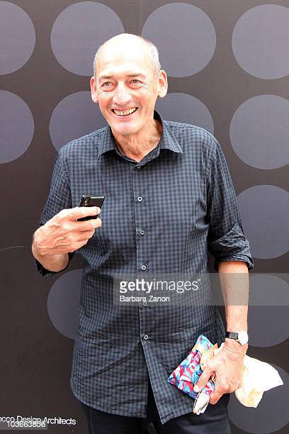 Architect Rem Koolhaas winner of Golden Lion poses during 2010 Venice Architecture Biennale on August 27 2010 in Venice Italy