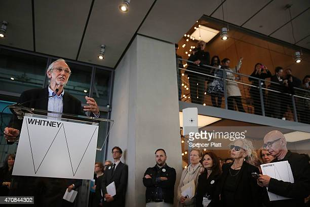 Architect Renzo Piano speaks at a media viewing for the new building housing the relocated Whitney Museum of American Art in Manhattan's meatpacking...