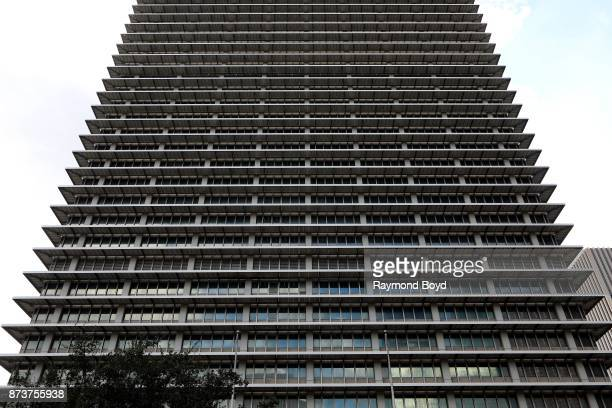 Architect Welton Becket's ExxonMobil Building in Houston Texas on November 4 2017 MANDATORY MENTION OF THE ARTIST UPON PUBLICATION RESTRICTED TO...