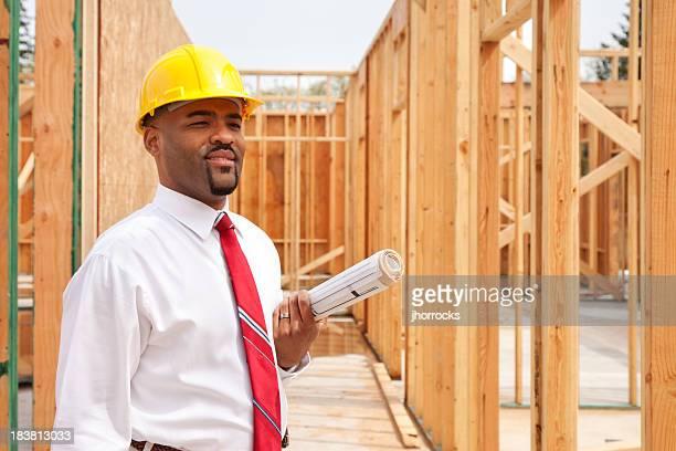 Architecte avec des Plans