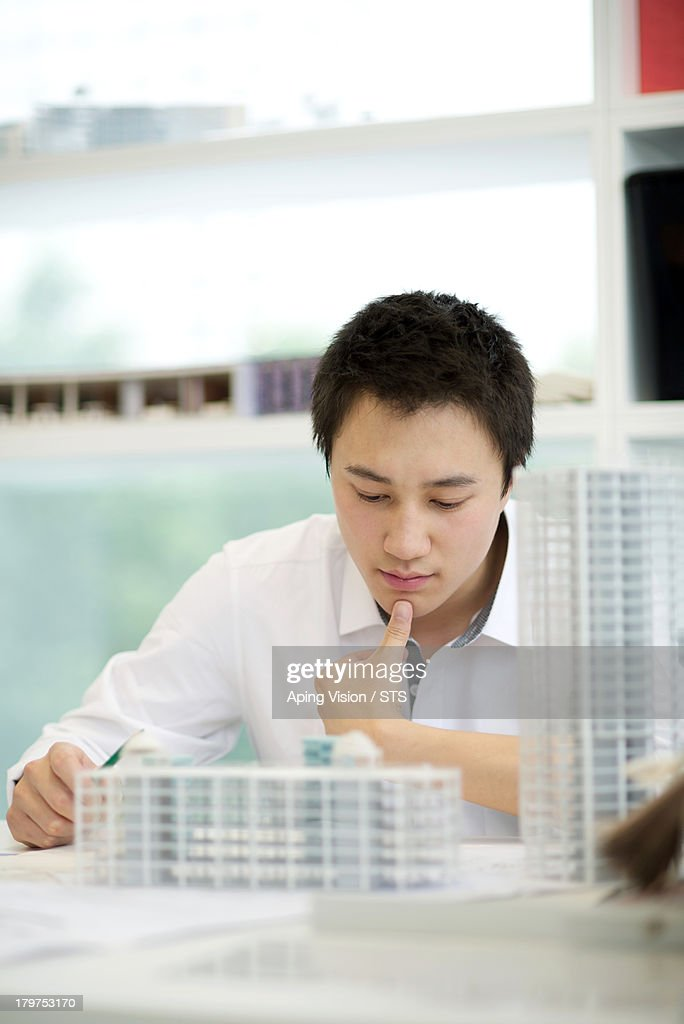 architect working in the office : Stock Photo
