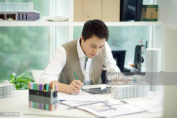 architect working in the office