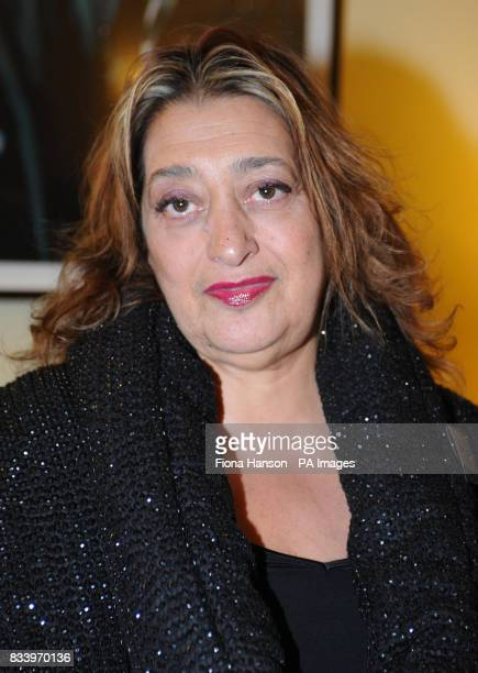 Architect Zaha Hadid at 10 Downing Street this evening for reception marking Maggie's a cancer charity of which Mrs Brown is Patron and Miss Wood has...