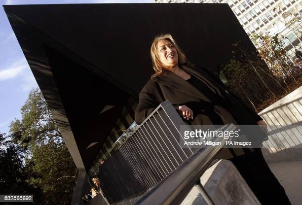 Architect Zaha Hadid at the official opening of the fifth Maggie's Cancer Caring Centre at Victoria Hospital in Kirkcaldy