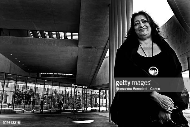 Architect Zaha Hadid attends the opening of the new MAXXI MUSEUM OF XXI CENTURY ARTS in Rome The Museum designed by angloiraki architect Zaha Hadid...