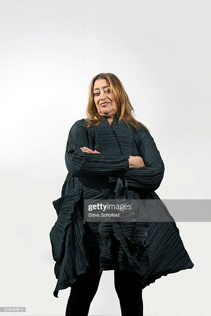 Architect Zaha Hadid is photographed on April 27, 2011 in London, England.