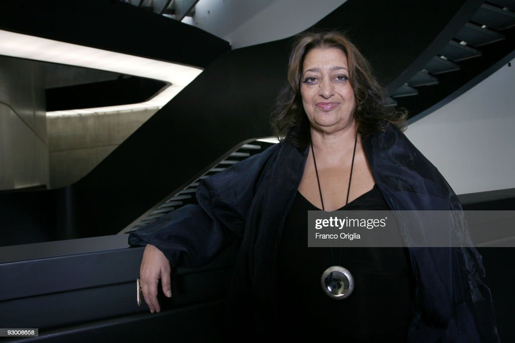 Architect <a gi-track='captionPersonalityLinkClicked' href=/galleries/search?phrase=Zaha+Hadid&family=editorial&specificpeople=560782 ng-click='$event.stopPropagation()'>Zaha Hadid</a> poses during the Architectural Preview of the MAXXI Museum designed by herself on November 12, 2009 in Rome, Italy. <a gi-track='captionPersonalityLinkClicked' href=/galleries/search?phrase=Zaha+Hadid&family=editorial&specificpeople=560782 ng-click='$event.stopPropagation()'>Zaha Hadid</a> was born in 1950 in Baghdad, Iraq. She has become one of the most famous architects in the world. Buildings nominated for the prestigious Stirling Prize include Nordpark Cable Railway Station (2008), Phaeno Science Centre (2006) and BMW Central Building (2005).