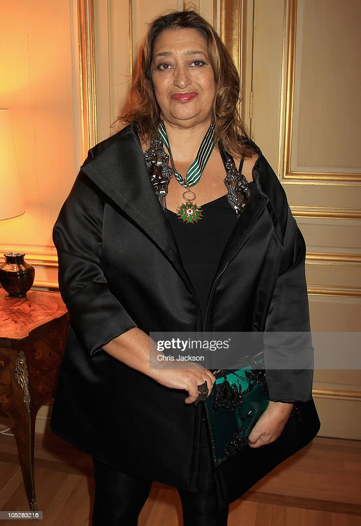 Architect <a gi-track='captionPersonalityLinkClicked' href=/galleries/search?phrase=Zaha+Hadid&family=editorial&specificpeople=560782 ng-click='$event.stopPropagation()'>Zaha Hadid</a> poses for a photograph after being made Commandeur dans l�Ordre des Arts & des Lettres at the French Ambassador�s Residence on October 13, 2010 in London, England.