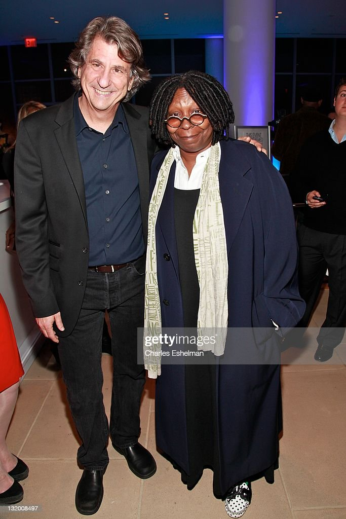 Architect/designer David Rockwell and actress Whoopi Goldberg attend DIFFA Presents a Tribute to David Rockwell at The IAC Building on November 9...