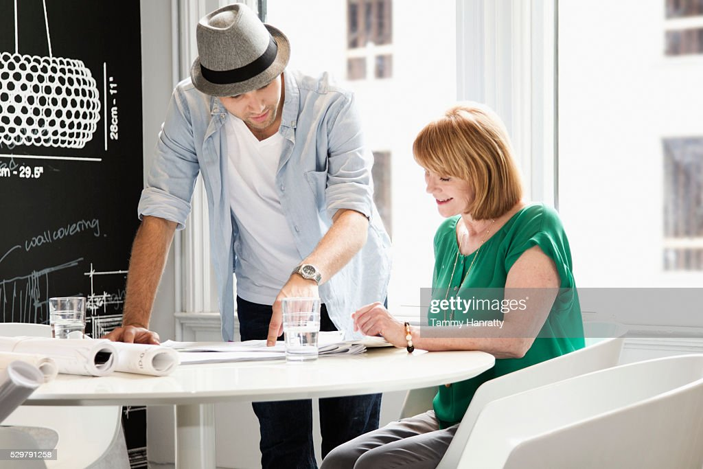 Architects at work : Stock Photo