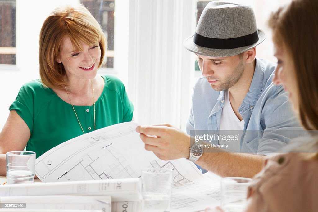 Architects at work : Stockfoto