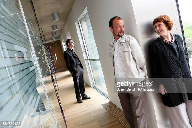 Architects from left to right Gerard Carty Phillippe O'Sullivan and Shelley McNamara in the Dublin office block branded hideous by hit Hollywood...