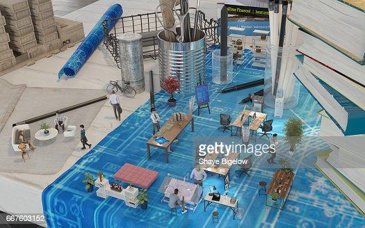 Architekturbüros Augmented Reality Design : Stock-Foto