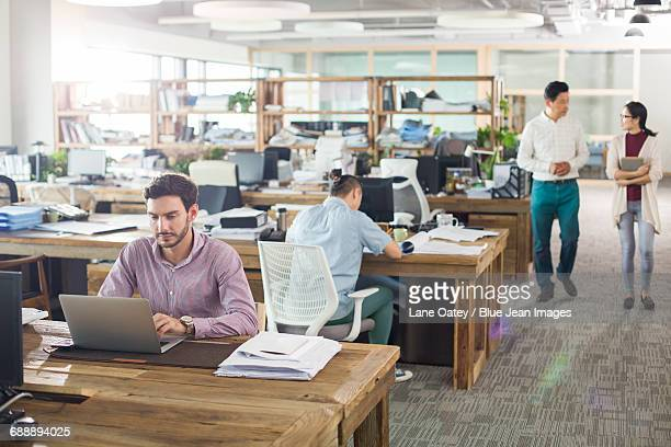 Architects working in the office
